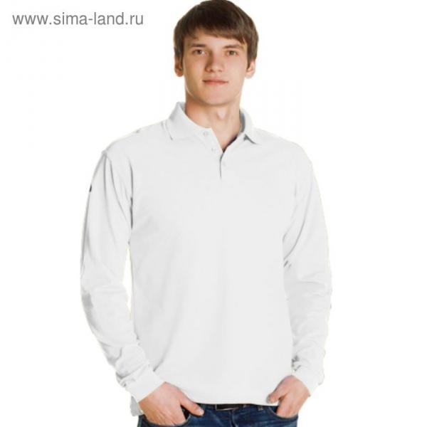 Рубашка-поло мужская StanPolo, размер 44, цвет белый 185 г/м