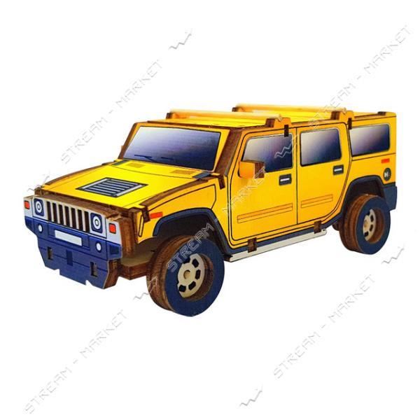 Набор-конструктор Wood Weels Hummer (желтый)