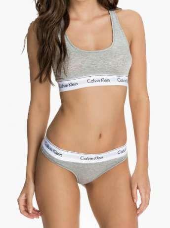 """Женский комплект нижнего белья """"Тройка. Серый"""" (топ + трусики слипы 2 шт) размер S, M, L, XL"""