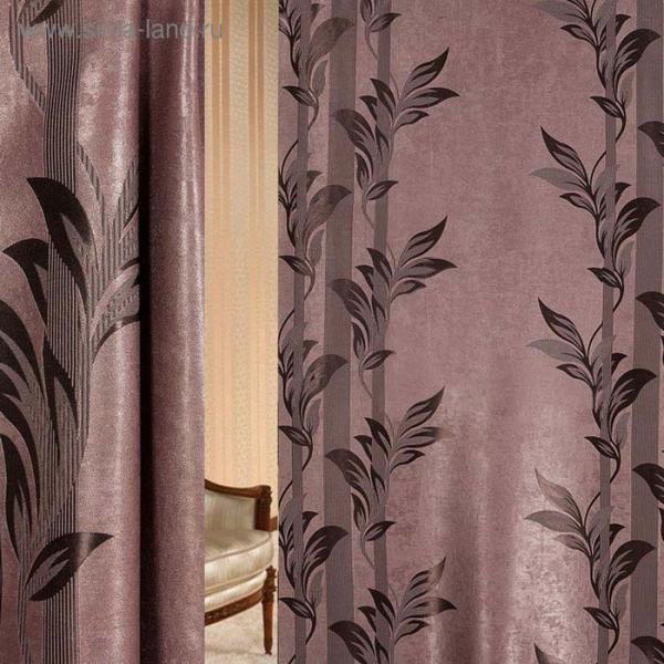 Ткань портьерная в рулоне, ширина 280 см., блэкаут 80521