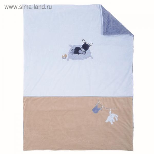Плед Nattou Alex & Bibou «Ослик» и «Кролик» 100 x 135 см,  321433