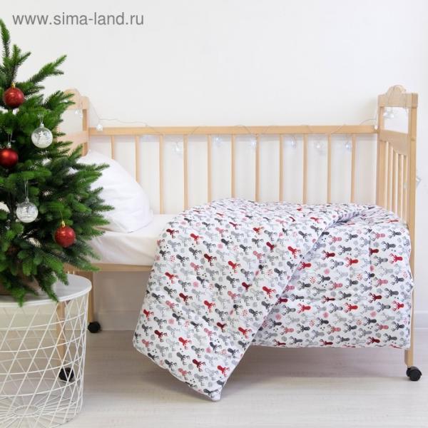 Одеяло «Этель» Рога, 110×140 см, 100% хлопок, фланель