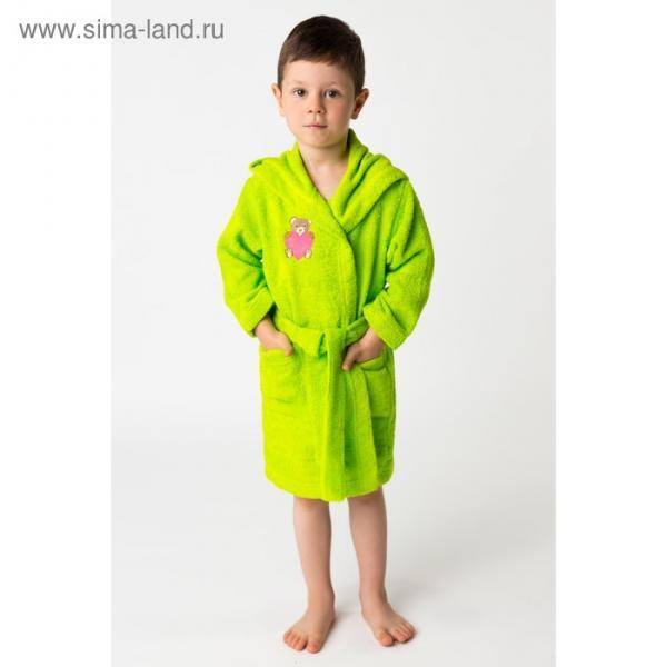 Халат махровый детский Мишутка, размер 30, цвет салатовый, 340 г/м² хл. 100% с AIRO