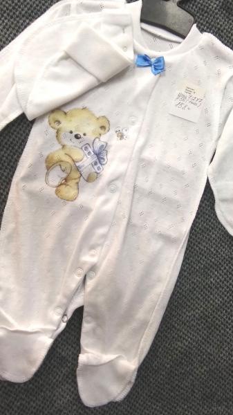 Человечек для мальчика новорожденный 2-ка, 56 см