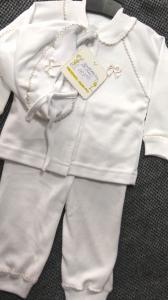Фото Костюмы, комбинезоны, человечки малышам (0-2года) Костюм на выписку с золотой тесьмой, 56р