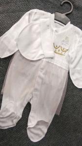 Фото Костюмы, комбинезоны, человечки малышам (0-2года) Человечек на выписку  с фатином для девочки 56р
