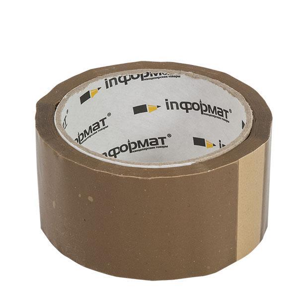 Лента упаковочная inФОРМАТ 50ммХ66м, 40мкм, коричневая
