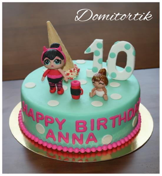 Торт куклы Лол (LOL Surprise)