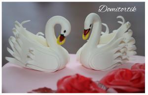 Фото Торты, Торт на юбилей Торт Лебеди (юбилей свадьбы)