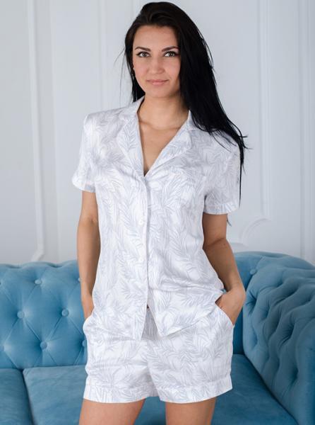 Пижама на пуговицах женская