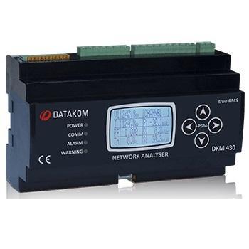 DATAKOM DKM-430-PRO+EXT. Многоканальный анализатор электросетей. Источник питания пост. тока. Расширенная версия.
