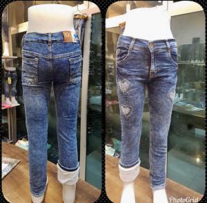 Фото Джинсы, лосины, штаны Джинсы на меху девочка от 8 до 12 лет