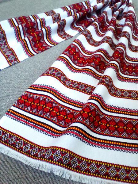 """Весільний тканий рушник з орнаментом""""Сатурн"""" 120*33см"""