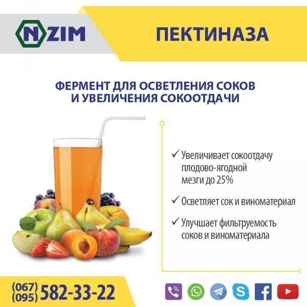 Пектиназа ENZIM - Фермент для расщепления пектинов