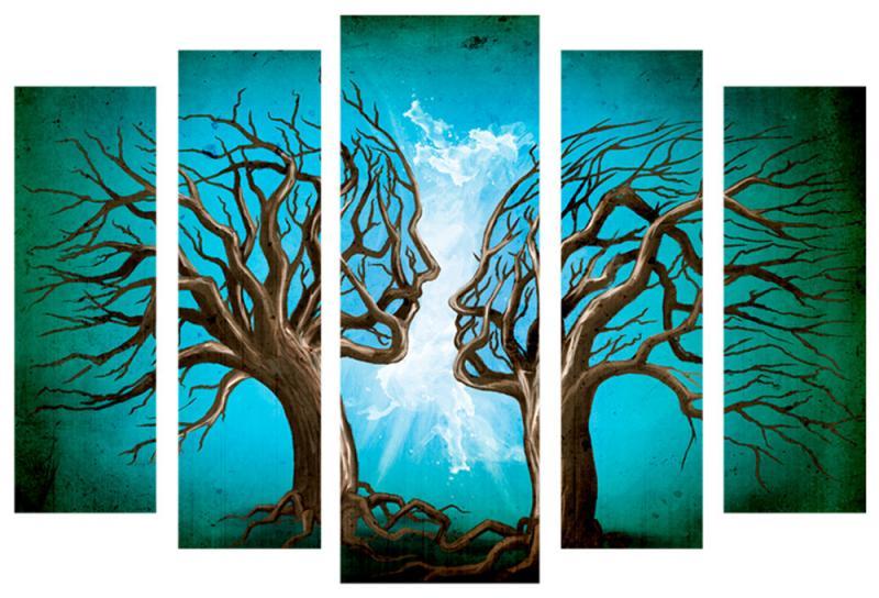 Модульная картина Декор Карпаты 120х80 см Деревья (M5-630-x5)