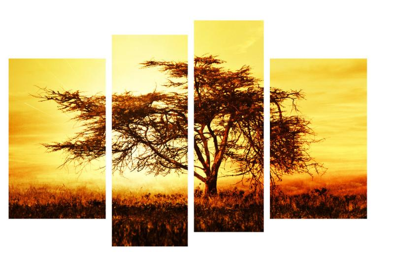 Модульная картина Декор Карпаты 110х70 см Дерево (M4-p18)