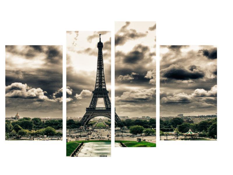 Модульная картина Декор Карпаты 110х70 см Париж (M4-g110)