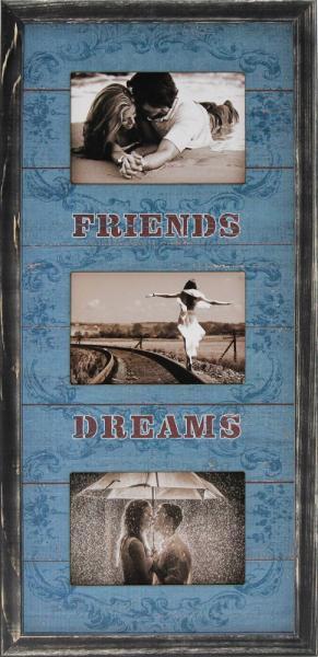 """Фоторамка коллаж """"Friends Dreams"""" 26х53 см (W3-104)"""