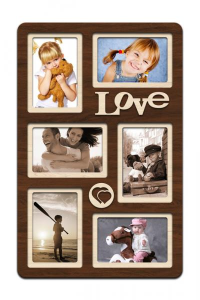 "Фоторамка коллаж ""Love"" 51х33 см (H6-020A)"