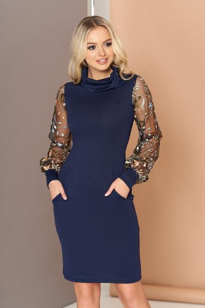 Сукня з вишитими рукавами