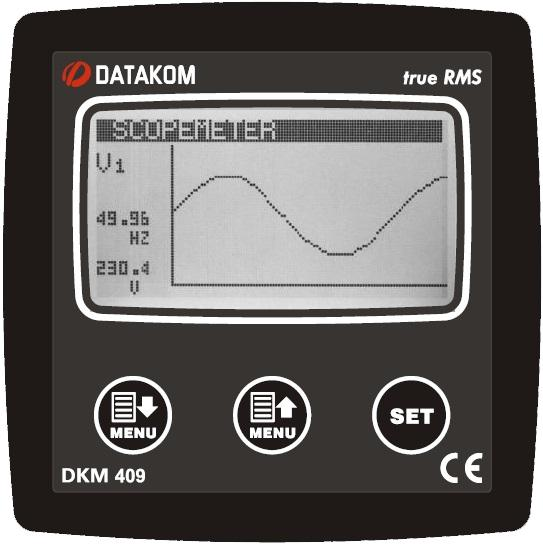 DATAKOM DKM-409 Анализатор сети, 96x96mm, RS-485, дополнит. вход/выход