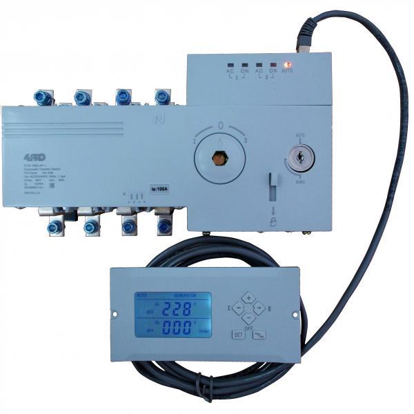 4PRO ATS-100A-4P-di Интел.устройство автоматического ввода резерва (АВР), 100A, 230/400V, 50/60Гц, 1-3 фазы
