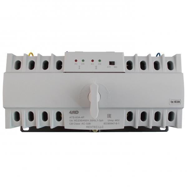 4PRO ATS-63A-4P Устройство автоматического ввода резерва (АВР), 4 пол., 63A, 230/400V, 50/60Гц, 1-3 фазы