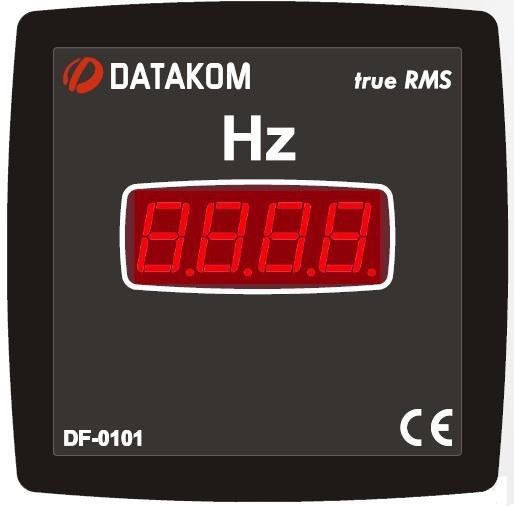 DATAKOM DF-0101 Частотометр, 1 фаза, 72x72 мм