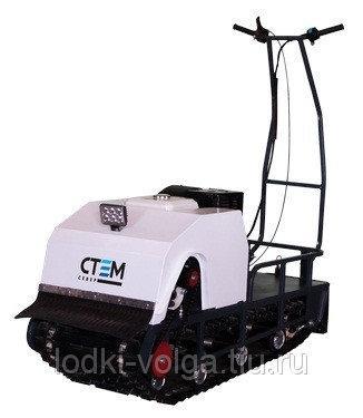 Мотобуксировщик Стем Север Эксперт 500 (двиг. 15 л.с., электрозапуск, реверс, тормоз, катковая подвеска)