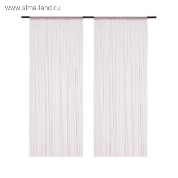 Гардины ХИЛЬДРАН, размер 145х300 см, цвет розовый