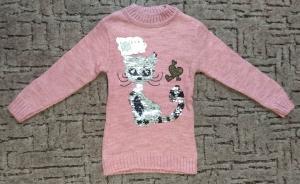 Фото Кофты, толстовки, рубашки, свитера Свитер для девочки - перевертыши от 4 до 8 лет
