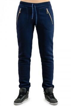 Женские теплые брюки Город_темно-синие