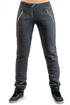 Женские утепленные брюки Город _темно-серые