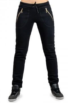 Женские брюки с начесом Город _черные