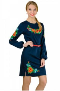 Платье вышиванка Калина (длинный рукав)