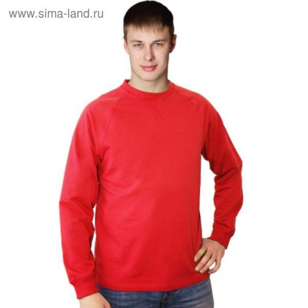 Толстовка мужская StanWork, размер 52, цвет красный 220 г/м