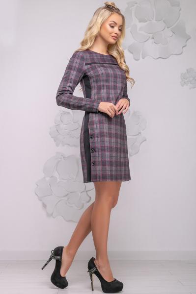 Женское короткое платье с длинным рукавом