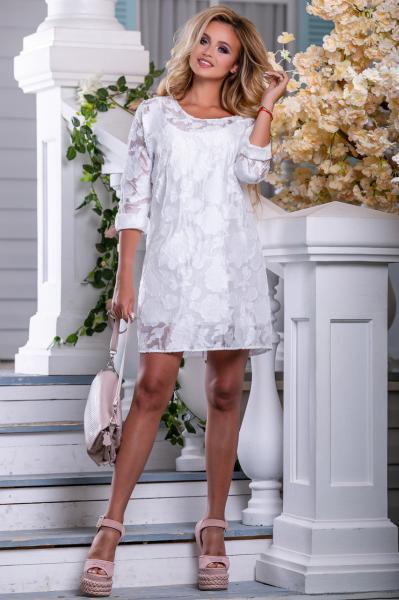 Белое нарядное платье лето