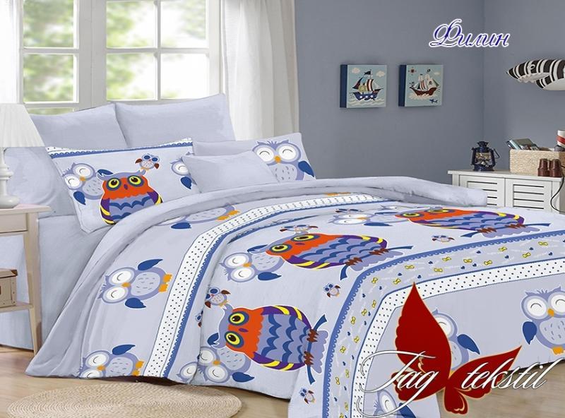Фото ДЕТСКОЕ ПОСТЕЛЬНОЕ, Постельное детское полуторное Комплект постельного белья с компаньоном Филин