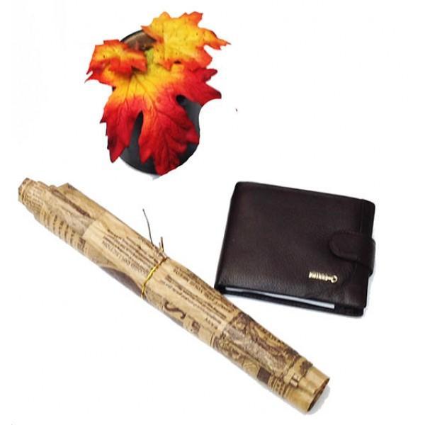 Фото  Мужской кошелек средний Zilli  Артикул 1308 коричневый