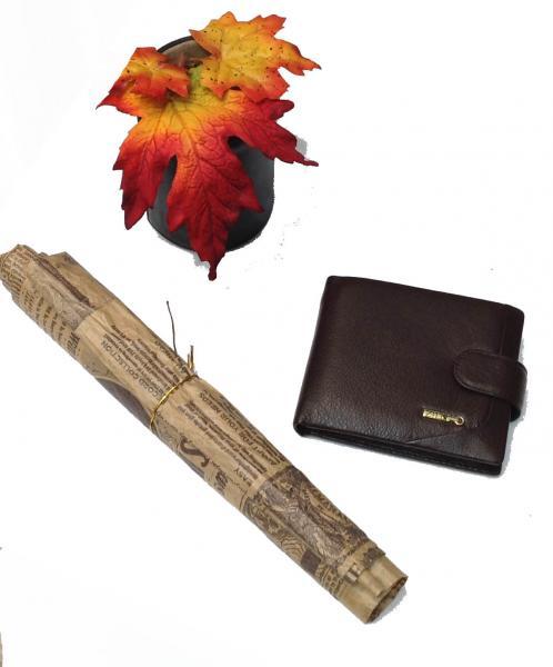 Фото  Мужской кошелек маленький Zilli  Артикул 1309 коричневый
