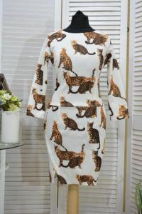 Фото Одежда Турция Эксклюзивное платье с котами