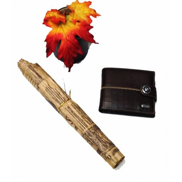 Фото  Мужской кошелек средний Dream с визитницей Артикул 6068 коричневый