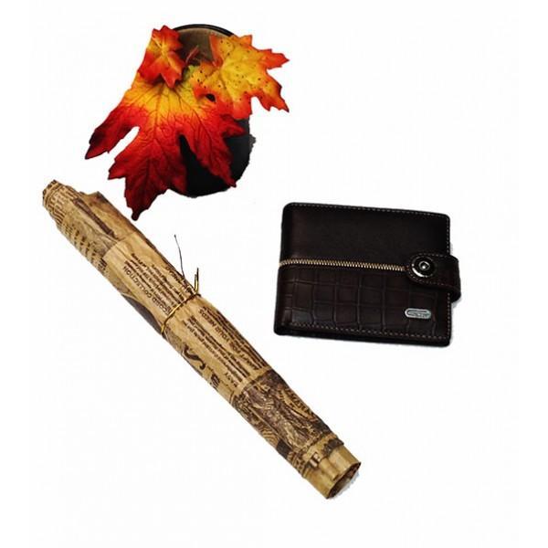 Фото  Мужской кошелек средний Dream Артикул 6064 коричневый