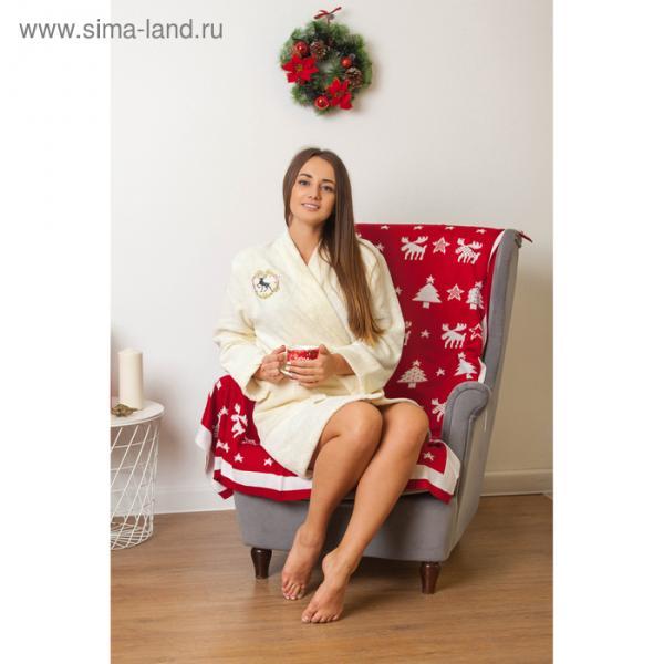 "Халат махровый женский с AIRO ""Винтаж"", размер 50-52, 340 г/м2"