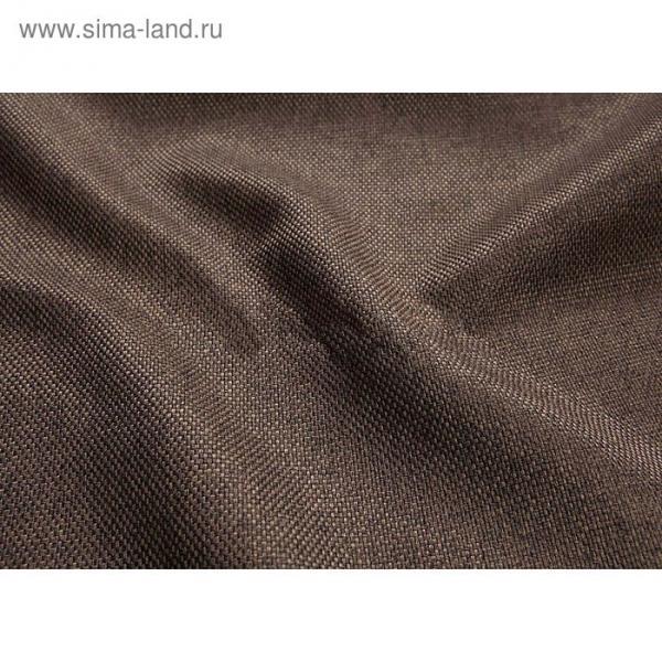 Ткань портьерная в рулоне, ширина 280 см, однотонная, лён 80954