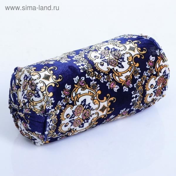 Подушка-валик узбекская синяя 25*53 см