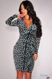 Фото Одежда Турция Леопардовое платье