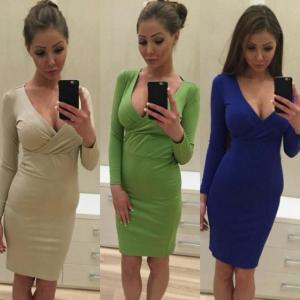 Фото Одежда Турция Платье с декольте