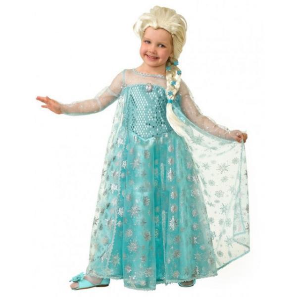 Карнавальный костюм Принцесса Эльза детский